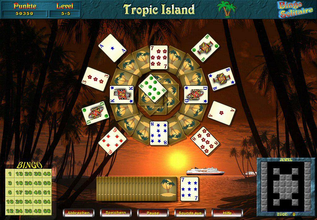 Screenshot vom Programm: Bingo Solitaire